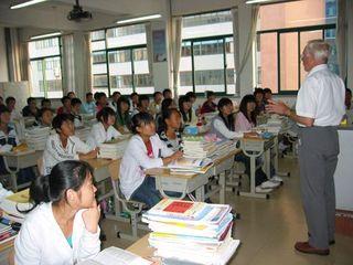John Howes, BMS Treasurer, in China