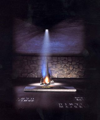 Eternal Flame in Yad Vashem