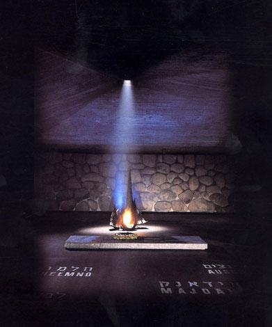 Eternal Flame in Yad Vashem